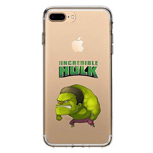 SLIDE IP7Plus / IP8Plus Cover in TPU Gel Trasparente Custodia Protettiva Collection, Baby Hero Collection, L'incredibile Hulk, iPhone 7 Plus/iPhone 8 Plus