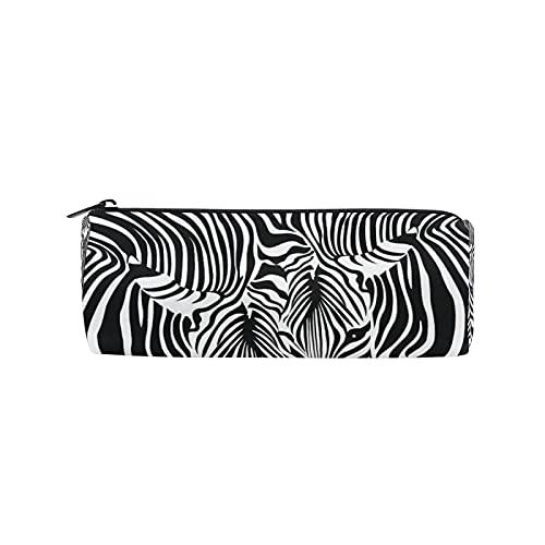 JNlover Federmäppchen mit Tier-Zebra-Druck, rund, Schreibwaren-Tasche, Make-up-Tasche für Teenager, Mädchen, Kinder, Jungen, Büro