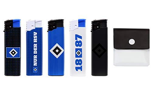 SweedZ 5X Hamburger SV Elektro-Feuerzeuge Verschiedene Motive Nachfüllbar Taschenascher
