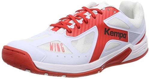 Kempa Damen Wing LITE Women EBBE & Flut Handballschuhe, (Weiß/Lighthouse Rot 04), Gr. 38 EU