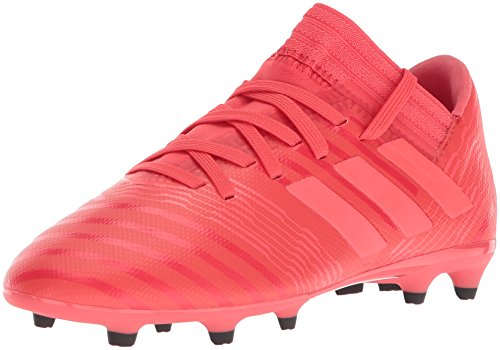 adidas Girls' Nemeziz 17.3 FG J, Real Coral/Red Zest/Core Black, 11 M US Little Kid