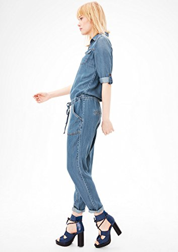 s.Oliver Damen Jumpsuit, Blau (Blue Denim Stretch) - 5