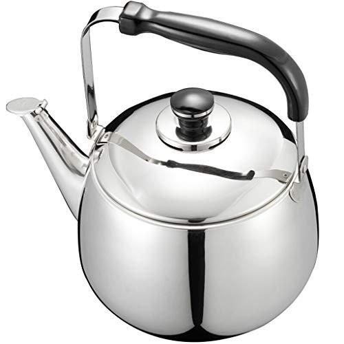 LCFF Bouilloire domestique 4L Cuisine 304 Acier Inoxydable Cuisinière À Gaz Automatique Sifflet Bouillotte