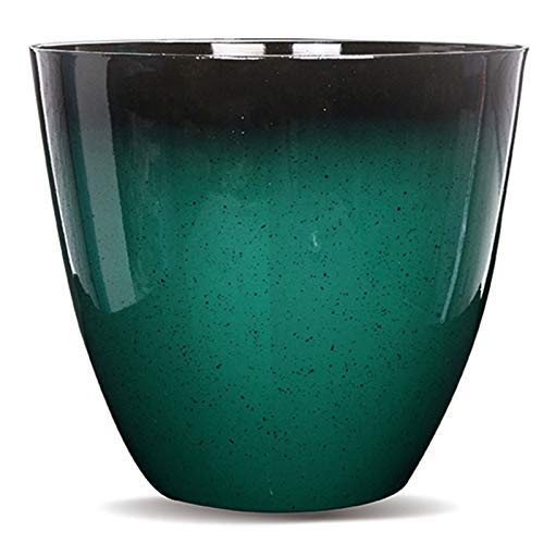Gr8 Garden Large Round Glazed Effect Egg Cup Planter Patio Flower Plant Pot Tub[Green]