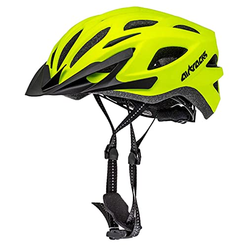Airtracks Savage KJ-201 Neon - Casco de ciclismo (neón mate, L/XL (58-63 cm)