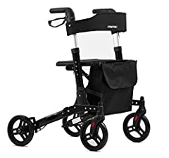 Opvouwbare lichtgewicht rollator FRIPAC R-1011, aluminium, met kantelhulp, complete uitrusting en comfortabele zitting, zwart*