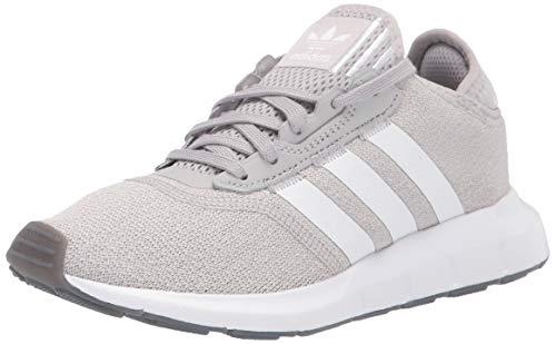 adidas Originals Women's Swift Essential Sneaker, Grey/White/Silver, 10