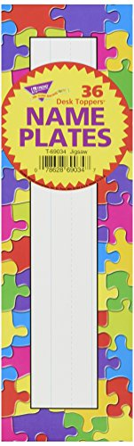 TREND enterprises, Inc. Jigsaw Desk Toppers Name Plates, 36 ct