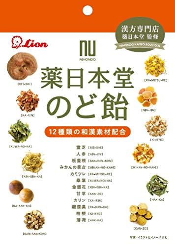 ライオン菓子 薬日本堂のど飴 74g×6袋