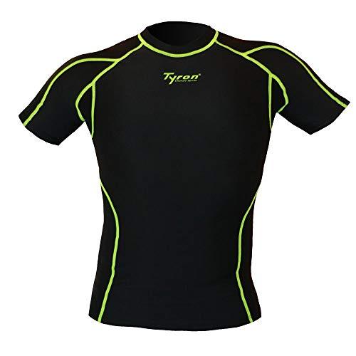 - Camiseta de compresión de Tyron (Negro), XXL