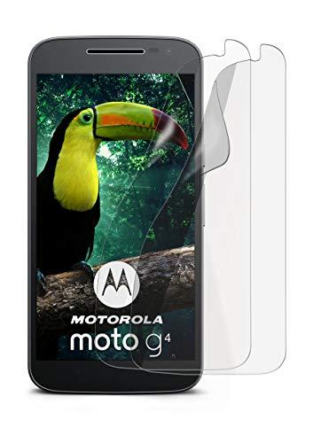 moex Schutzfolie matt kompatibel mit Moto G4 / G4 Plus - Folie gegen Reflexionen, Anti Reflex Bildschirmschutz, Matte Bildschirmfolie - 2X Stück