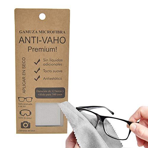 MAGIC SELECT Gamuza de Microfibra Anti Vaho, 12 Horas de Duracion y más de 300 Usos, No raya y no deja Pelusas, Ideal para llevar gafas con mascarilla, lentes de cámara, prismáticos.