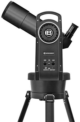 Bresser Refraktor Teleskop 80/400 automatisches Goto Teleskop mit Computersteuerung über Handbox und hochwertigem Objektiv-Sonnenfilter, inklusive Stativ und umfangreichem Zubehör