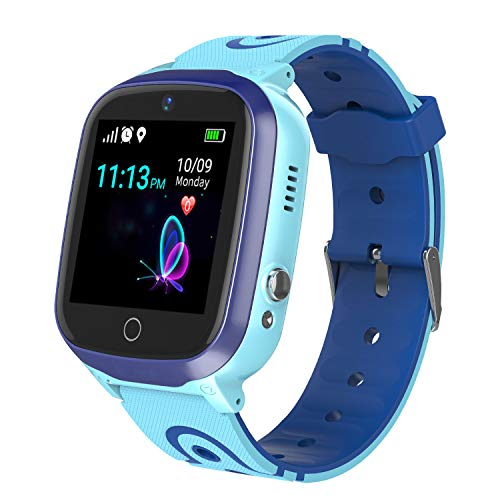 Smart Watch for Kids - Boys Girls Smartwatch Phone with Waterproof GPS Tracker Voice Chat SOS Call...