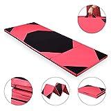 COSTWAY Weichbodenmatte 300 x 120 x 5 cm   Gymnastikmatte klappbar   Yogamatte verbindbar   Turnmatte groß   Klappmatte   Fitnessmatte Farbwahl (Rot)