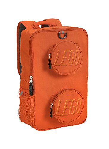 LEGO Kids Brick Backpack, Orange, One Size
