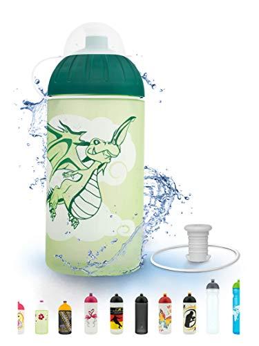 FreeWater Trinkflasche, 500 ml, Drache: schadstofffrei, spülmaschinengeeignet, auslaufsicher, langlebig