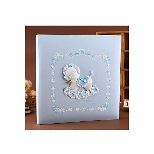 ZTMN fotoalbum, creatief handgemaakt traditioneel fotoalbum, baby growth Custom Record Book, (rood, biedt ruimte voor 101-200 foto's) (kleur: 2)