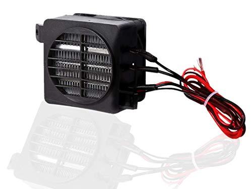 Akozon 100W 12V PTC de ahorro de energía Ventilador del coche Calentador de aire Temperatura constante Calentadores de elemento calefactor
