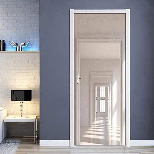 Sticker Porte Sunshine Room Door Peinture Murale Taille 77 * 200Cm