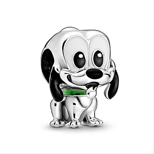Zxxxuun Nuevo Dije de Perro de Dibujos Animados de Cuentas de Plata de Ley 925 Que se Adapta a la Pulsera Pandora Original joyería DIY para Mujer