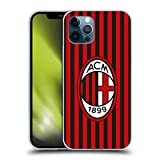 Head Case Designs Ufficiale AC Milan Home 2019/20 Kit Crest Cover in Morbido Gel Compatibile con Apple iPhone 12 / iPhone 12 PRO