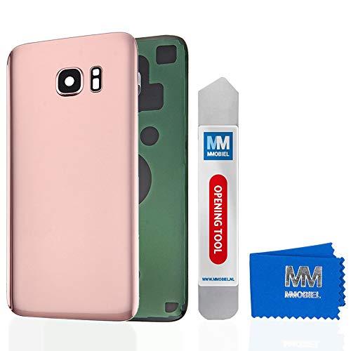 MMOBIEL Backcover Akkudeckel Rückseite Klappe mit Linse kompatibel mit Samsung Galaxy S7 G930 5.1 Inch (Pink Gold)
