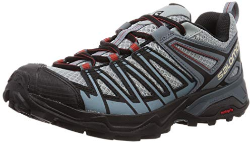 Salomon X Ultra 3 Prime, Zapatillas de Senderismo para Hombre, Azul/Negro (Lead/Stormy Weather/Bossa Nova), 40 EU