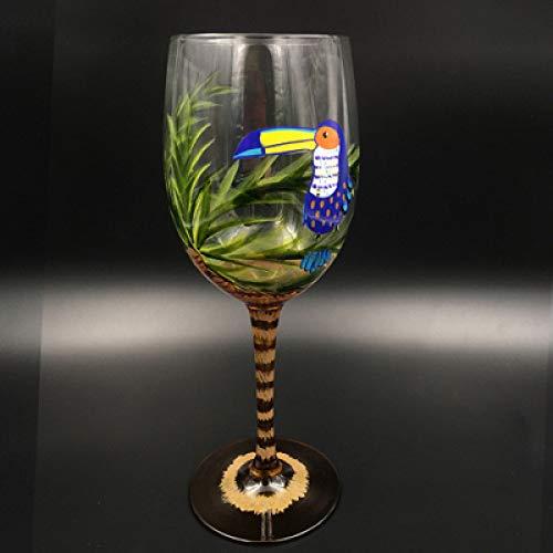 ZFLL Rode Wijn Glas Gekleurde Tekening Grote Champagne Fluit Glas Kristal Cup Rode Wijnglazen Stemware voor Vodka Cups hoem Bar Hotel Party Drinkware 70x220mm
