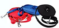 Long Leash Adjustable 25 Ft to 55 Ft Training Lead For Dogs and Pups TOP RATED! Here Spanky! (Blue)