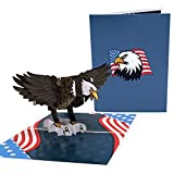 Oritouchpop Bald Eagle Pop Up Card - Presidential Election Celebration, Veterans Day, Patriotic Card, 3D Card for Any Occasions, Birthday, Thank You, Memorial Day, Independence Day, Anniversary