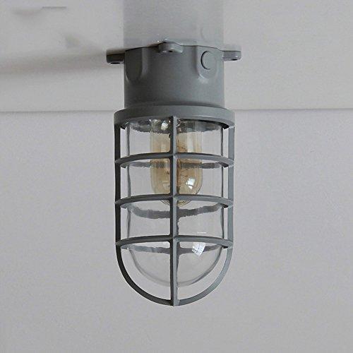 American Retro Industrie plafondlamp, aluminium glas LED-verlichting Aisle plafondlamp woonkamer slaapkamer plafondlamp, blauw/grijs/groen/roze/wit