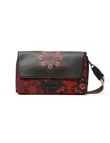 Desigual Womens Fabric Across Body Bag, Black, U