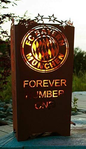 Feuertonne Feuerkorb Feuerstelle Terrassenofen Forever Number One Mia san Mia Fußball