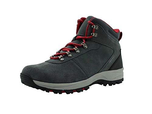 Amazon Essentials Men's Round Toe Lace-Up Boot Hiking Shoe, Grey, 11 Medium US