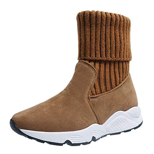 Entrenadores Mujer Botines Plataforma otoño Invierno Botas de calcetín Damas Sin Cordones Casual Elegante Zapatillas de Invierno Gimnasio Zapatos de Invierno