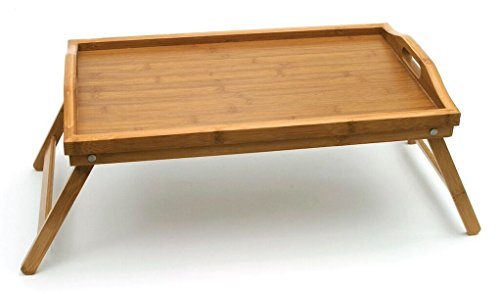 Lipper International 8863 Bamboo Wood Bed Tray with Folding Legs, 19.75' x 12' x 9.5'