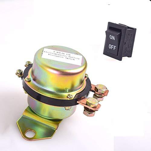 Cocar 12V Coche Auto Batería Electromagnética Desconexión Interruptor, CC 12V Electromecánico Solenoide Interruptor Uno Botón Guión
