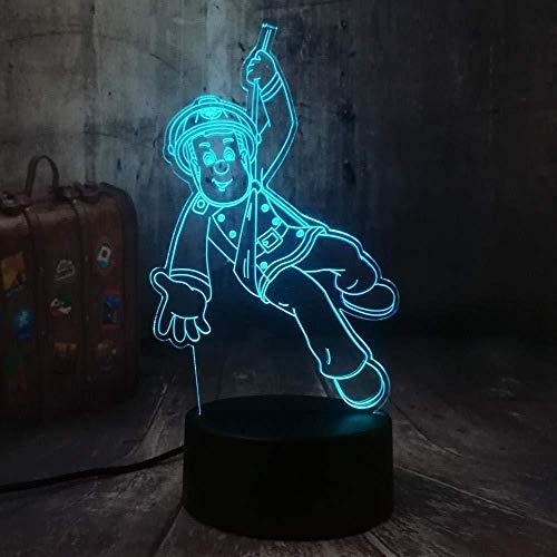 Nouveau Pompier Sam Pompier Veilleuse 3D Led Usb Lampe De Bureau Lampe De Table Décoration De La Maison Cadeau De Noël Spectacle Ampoule Jouet Cadeau D'Anniversaire