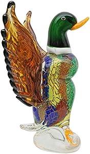 Figura de Cristal pájaro Pato Vidrio Estilo Antiguo Murano - 32cm