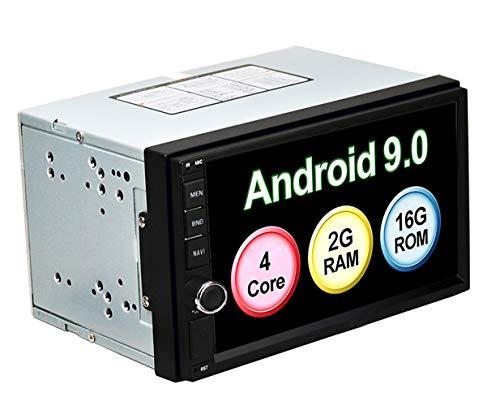 LEXXSON Doppel-Din Android 9.0 Autoradio mit GPS Navigation Bluetooth Unterstützt WIFI DAB+ USB/TF/ FM/AM/RDS Radio Tuner/Aux in/Cam-In/Freisprecheinrichtung/Subwoofer, 7 Zoll Touchscreen Autostereo