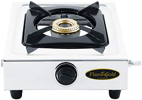 Flamingold Single Burner Gas Stoves 1 Stainless Steel LPG Cooktop...