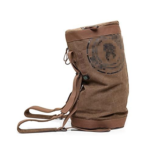 LICHUAN Bolsa de lona para viaje, impermeable, mochila deportiva, convertible para hombres, mujeres, adolescentes y acampadas, color caqui, tamaño: 18 pulgadas
