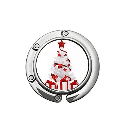Runder Faltbarer Geldbörsenhaken Handtaschenhalter Halter Tischhalter Dekorierter Weihnachtsbaum