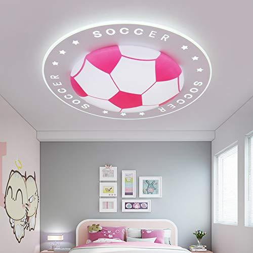 Dongbin Kinderzimmerlampe Fußball Lampe LED Junge Deckenleuchte Kinderzimmer Kinderleuchte Decke Leuchte Für Kinder Schlafzimmer Babyzimmer Modern Baby Licht 40CM,C