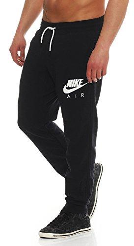 Nike Air AW77 Heritage Fleece Cuffed Herren Trainingshose Farbe: Schwarz/Weiß; Größe: M