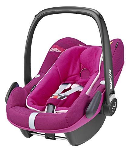 Maxi-Cosi Pebble Plus Babyschale, sicherer Gruppe 0+ i-Size Kindersitz (0-13 kg), nutzbar ab der Geburt bis ca. 12 Monate, passend für FamilyFix One Basisstation, frequency pink