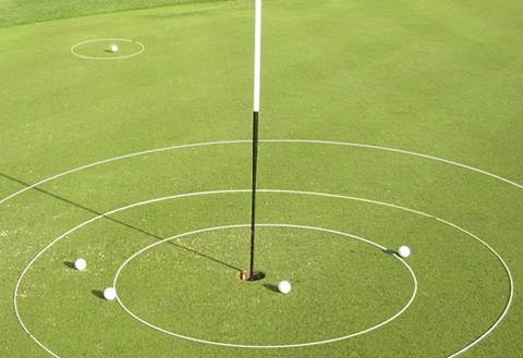 Golf Training Aid eGolfRing - Individual White Golf Targets - Short Game Improvement - Chipping Trainer, Putting Trainer - 6 Feet