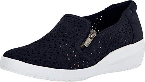 Anne Klein AK Sport Women's Yvette Sneaker Oxford Flat, Navy Multi Nubuck, 10 M US