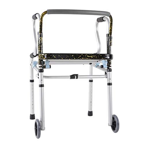 Silla de Ruedas Wheelchair Sillas de Ruedas Andador Para Discapacitados De Aleación De Aluminio, Marco Para Caminar De Edad Avanzada Con Mango Antideslizante Ajuste De Altura De 8 Velocidades, Adecuad